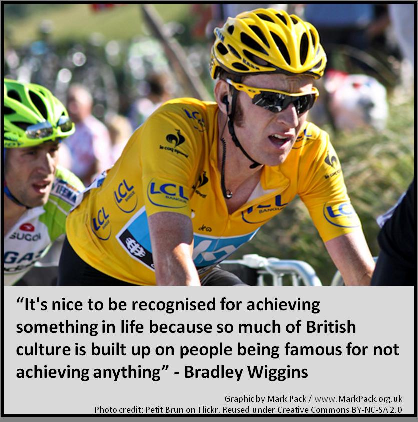 Bradley Wiggins on fame