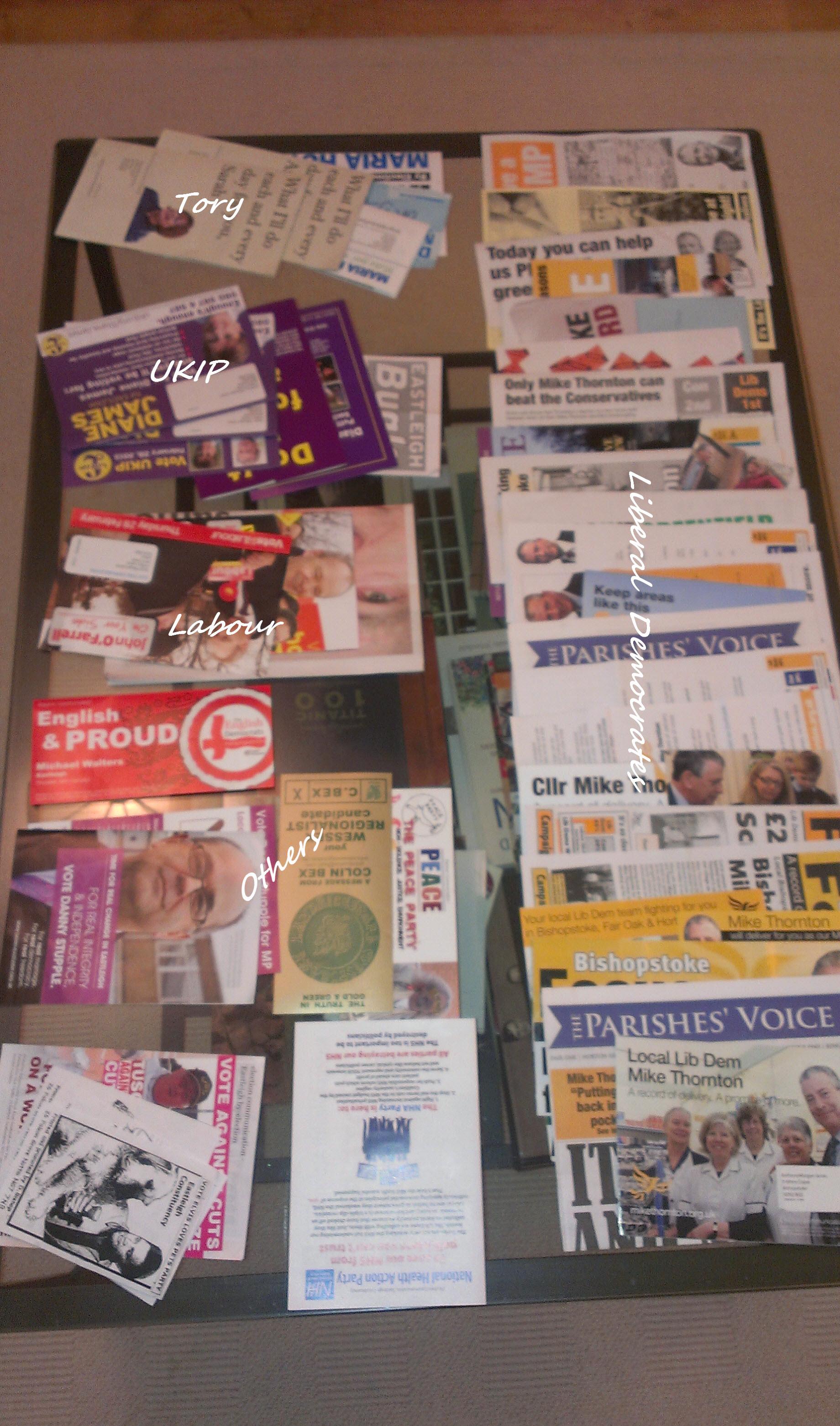 Eastleigh leaflets