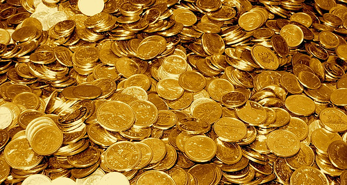 Gold coins. Photo courtesy of tao_zhyn on Flickr. Some rights reserved. http://www.flickr.com/photos/tao_zhyn/442965594/