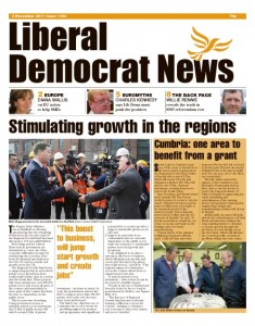 Liberal Democrat News front page