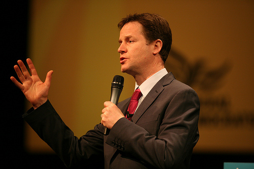 Nick Clegg. Photo credit: Alex Folkes/Fishnik Photography. Some rights reserved