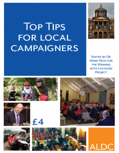 Top Tips For Local Campaigners: book cover