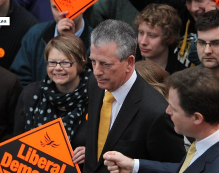 Victoria Marsom, Mike Thornton and Nick Clegg