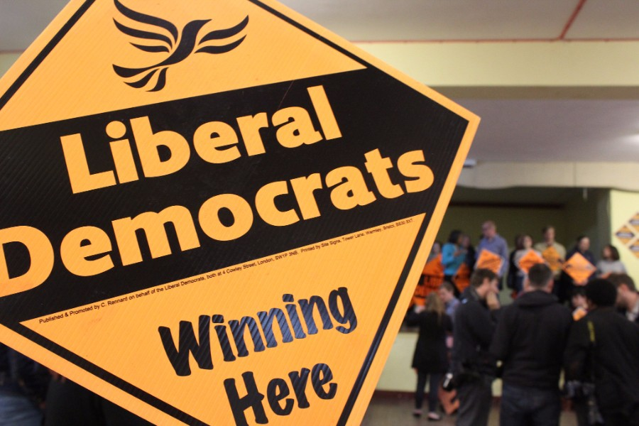 Lib Dem poster - photo courtesy of Lib Dems CC BY-ND 2.0