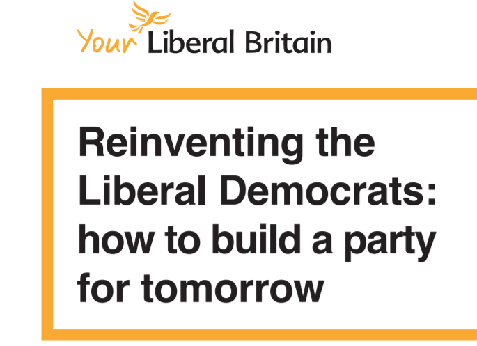 Reinventing the Liberal Democrats: pamphlet cover