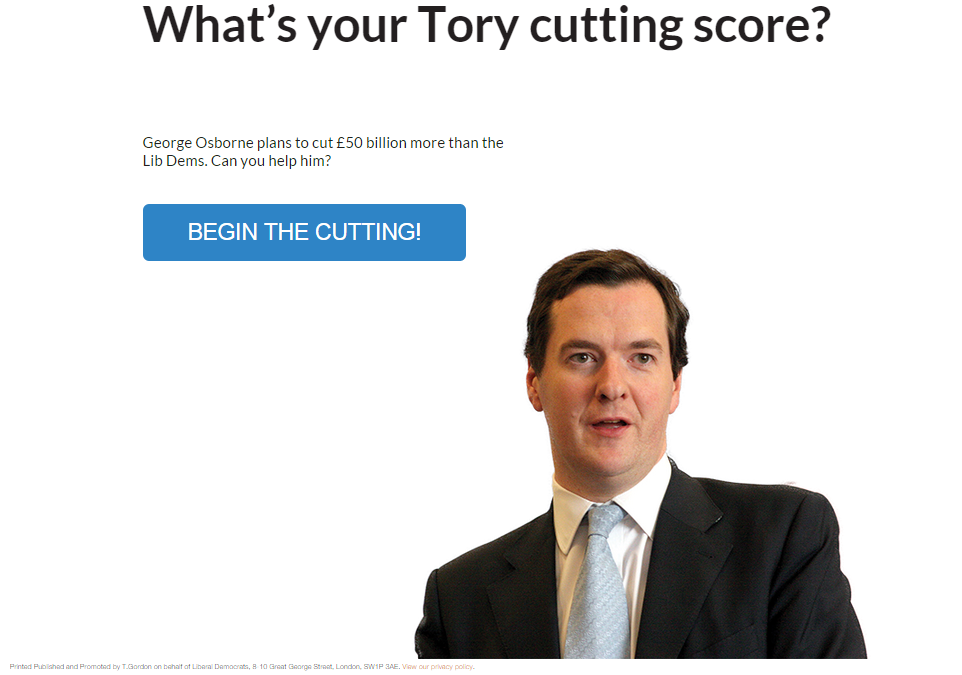 What's your Tory cutting score?