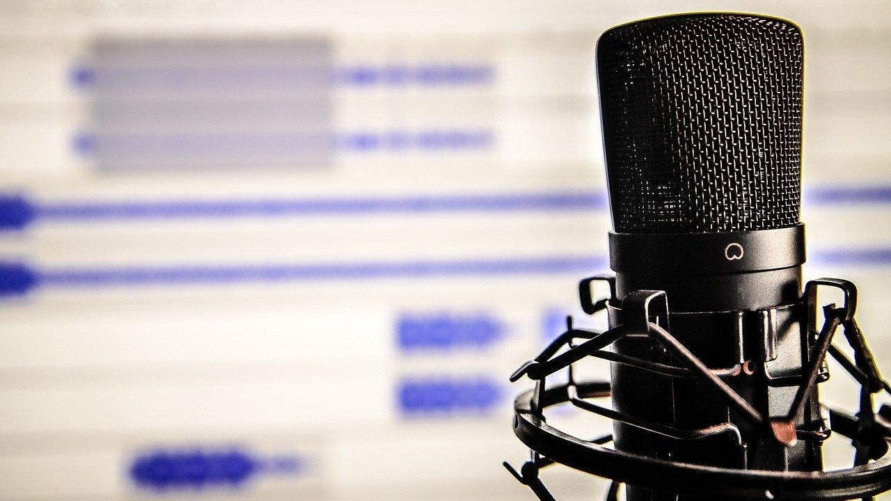 A microphone. Image by Daniel Friesenecker from Pixabay
