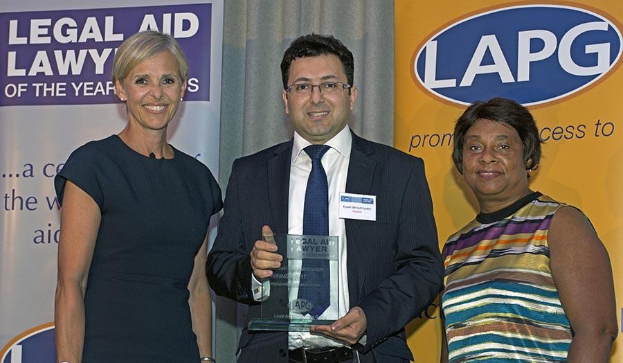 Kaweh Beheshtizadeh wins Legal Aid Lawyer of the Year award