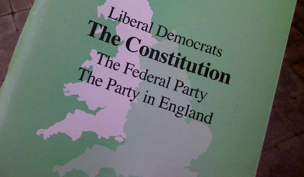 Liberal Democrat constitution booklet
