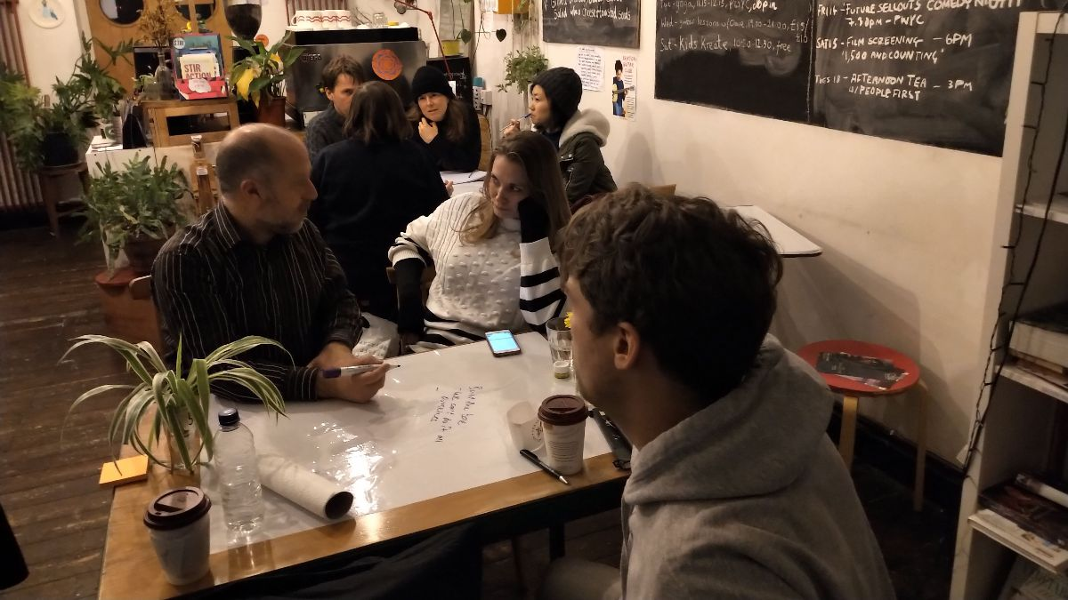 Lambeth Liberal Democrats training event in a local cafe