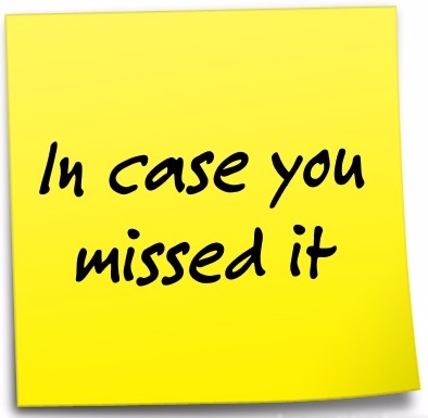 "Post-it note - ""In case you missed it"""