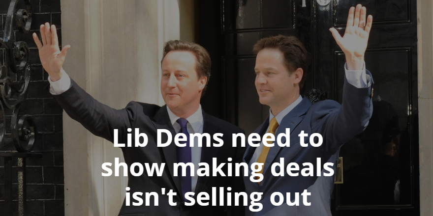 Nick Clegg and David Cameron in Downing Street