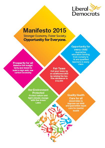 Lib Dem 2015 manifesto cover