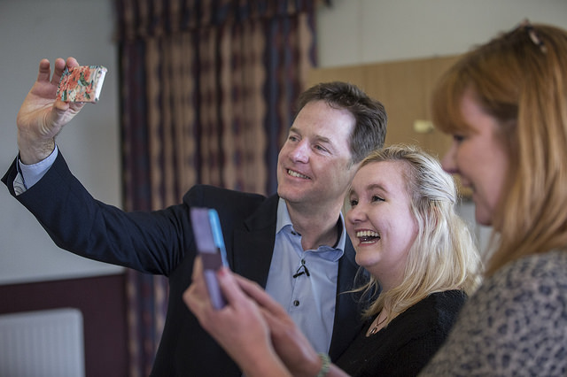 Nick Clegg campaigning in Dorset