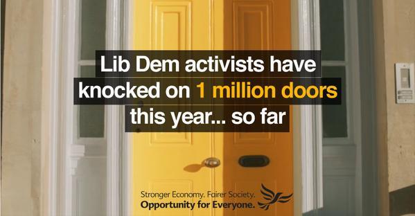 Lib Dems knock on 1 million doors