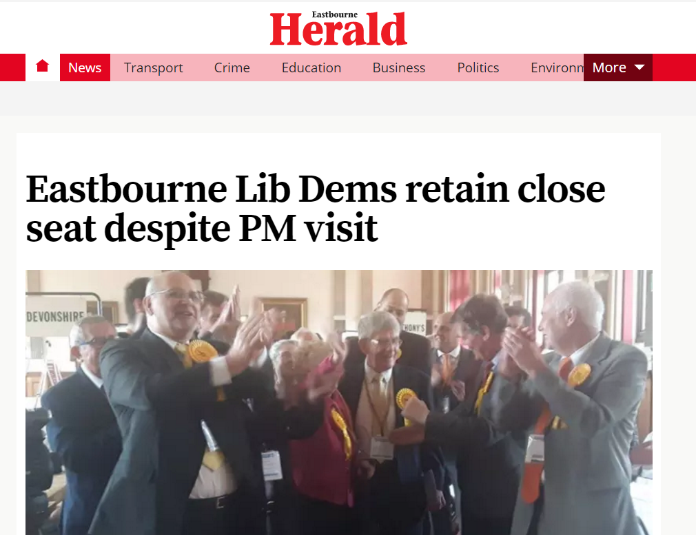 Liberal Democrat success in Eastbourne
