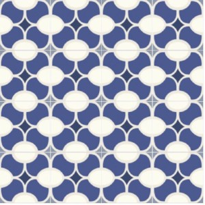 In stock cement tile like our Mission Modern Weave B