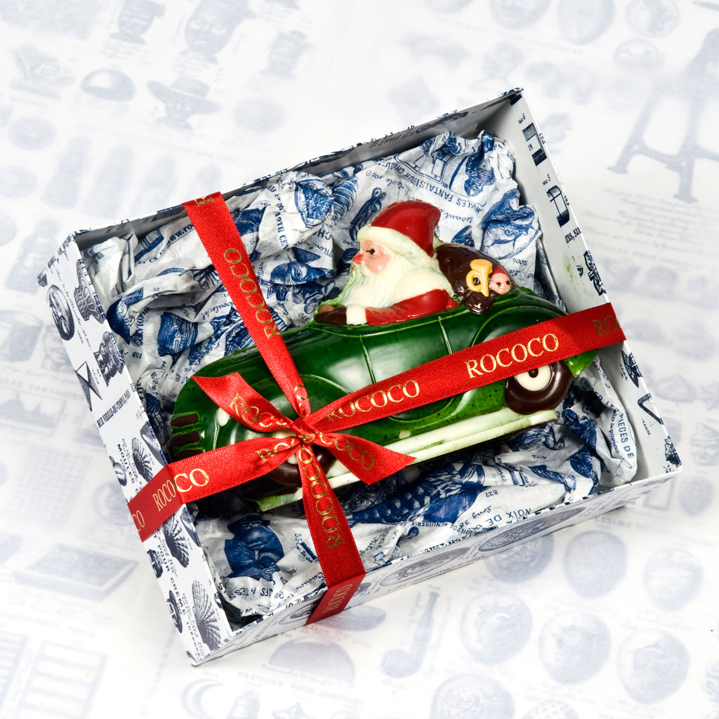 Chocolate Santa Bugatti