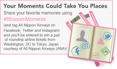 Share your favorite memories with #BlossomMoments and win a trip to Tokyo