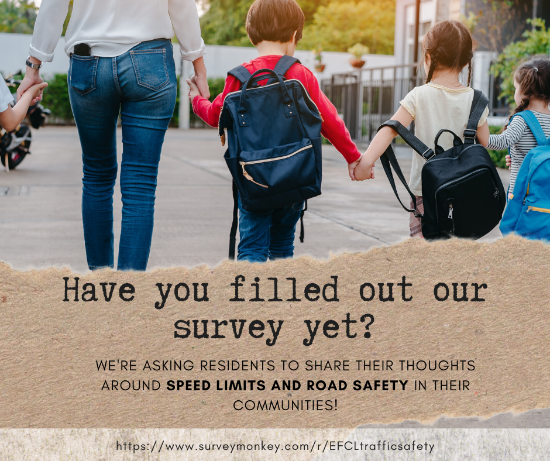 Have you filled our our survey yet? We're asking residents to share their thoughts around speed limits and road safety in their communities!