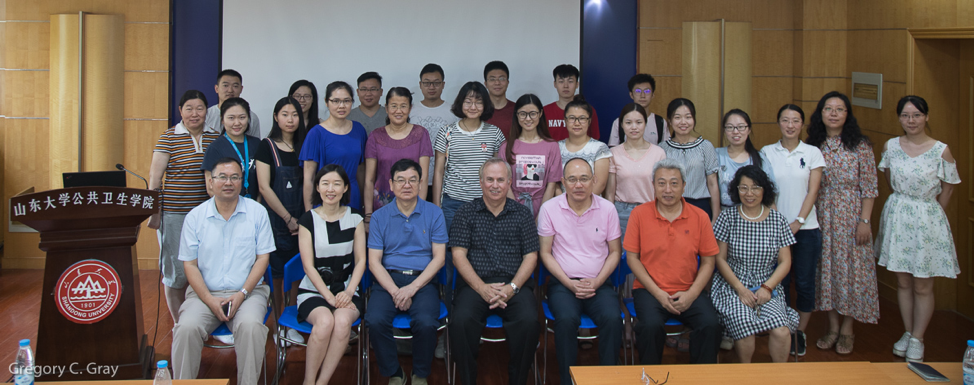Shandong University collaborators and Dr. Gray at the Ecohealth/One Health Institute