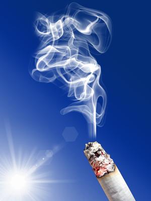 brandende sigaret