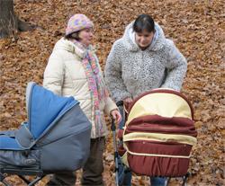 postnatale depressie - wandelen met de kinderwagen