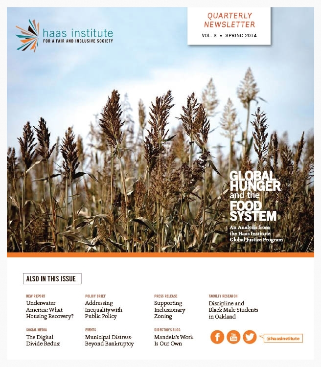 Spring 2014 Haas Institute Newsletter Cover