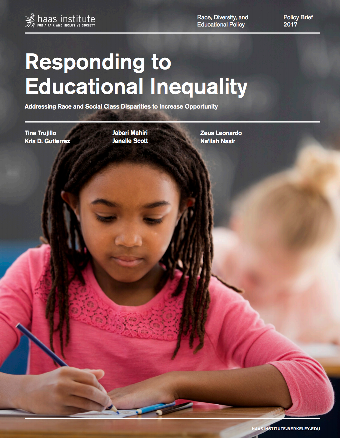 Cover of Race Education policy brief