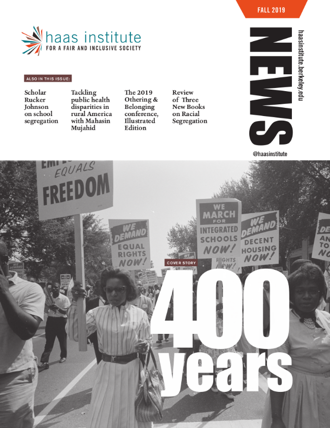 Cover of the Fall 2019 Haas Institute magazine