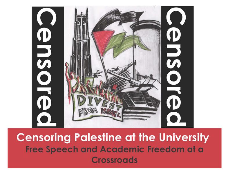 Censoring Palestine at the University