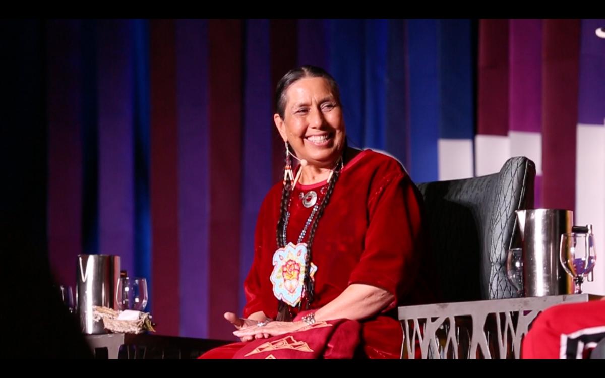 Video still of Bridging Generations Panel at O&B2019 Conference