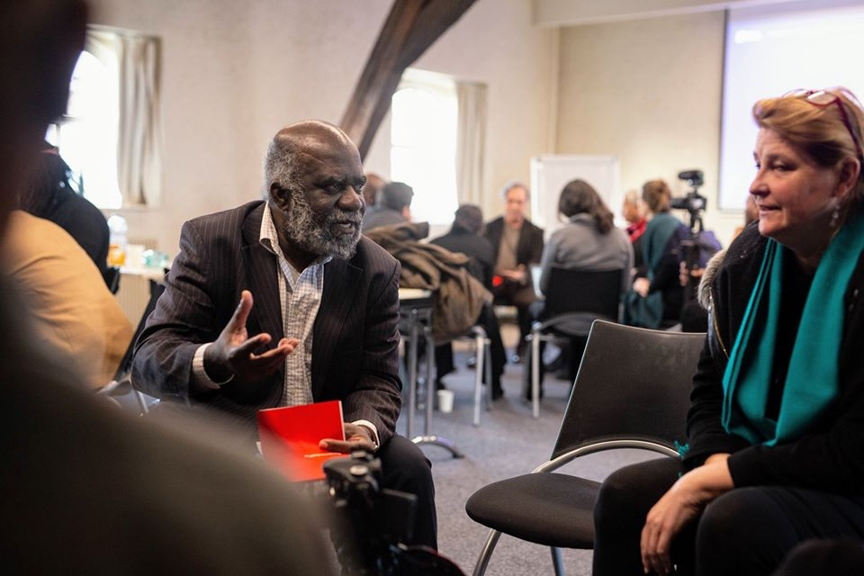 Kwame Nimako (left) of University of Amsterdam and the Black European Summer School, with Professor Tania Singer of Max Plank Institute.