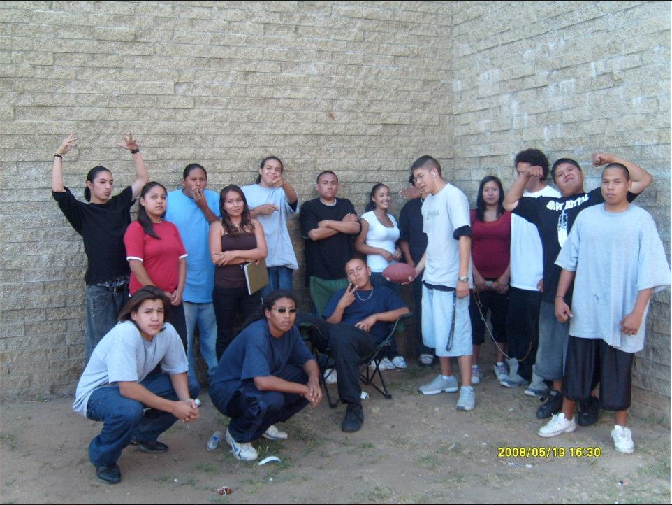 Lower left, Tomas WhiteAntelope and his mentees