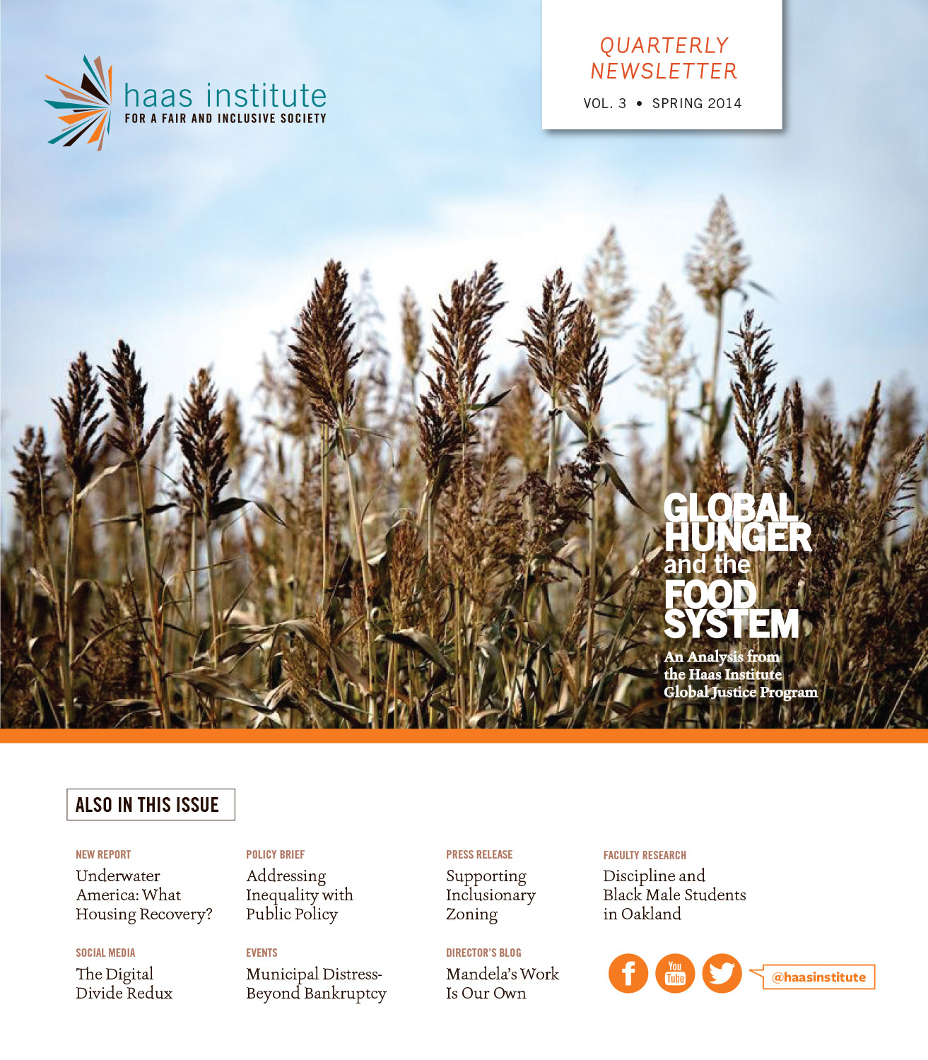 Cover of Haas Institute Newsletter on Global Food System