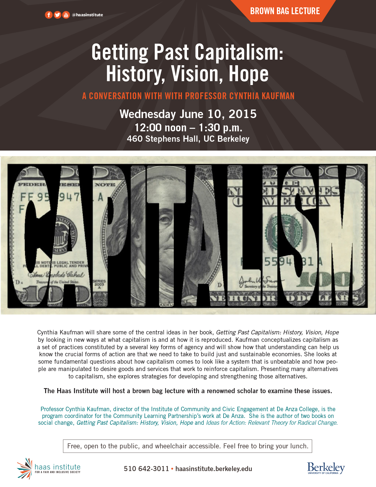Flyer for Brown Bag Lecture on June 10