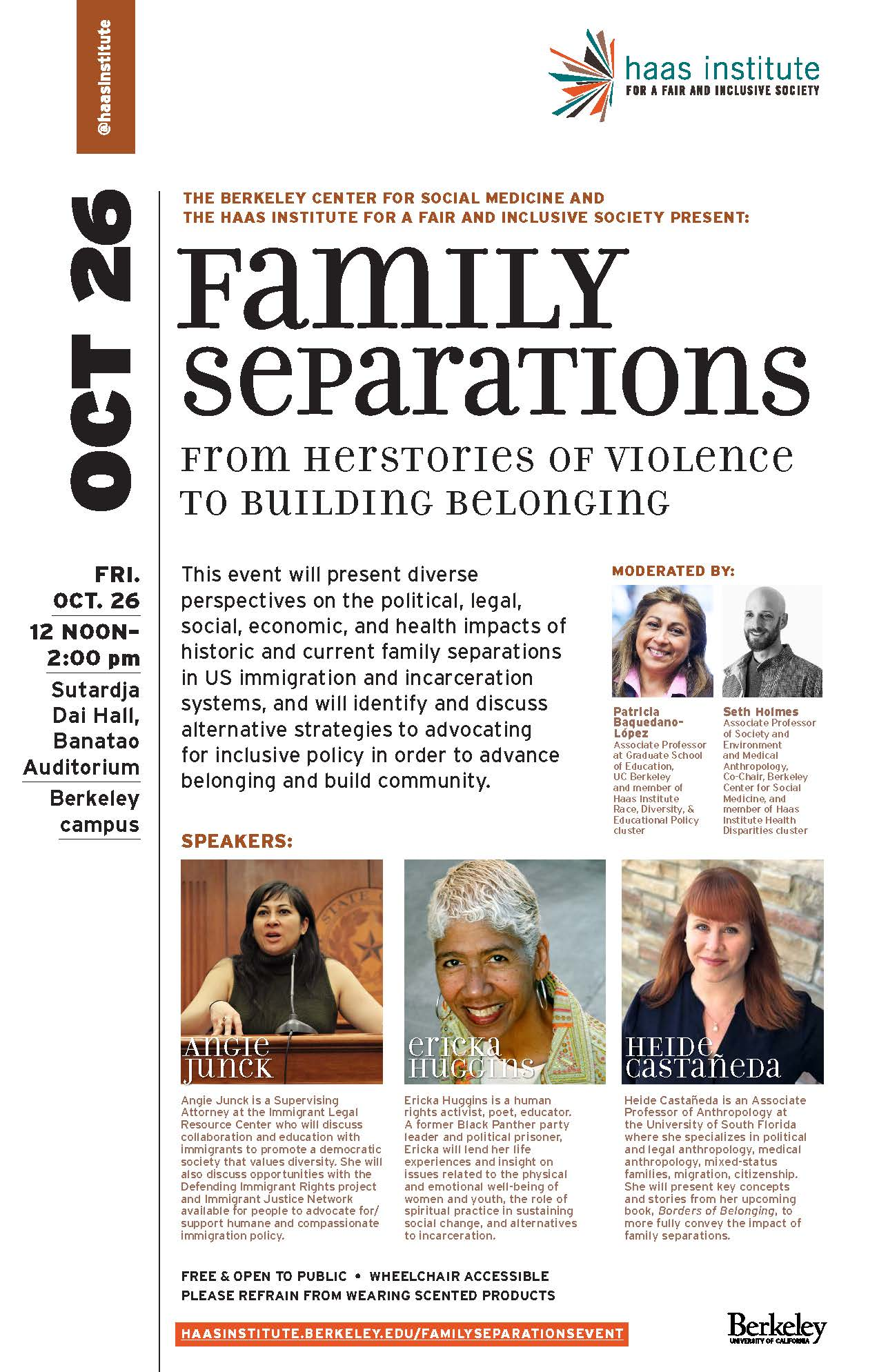 Flier for the Family separations event