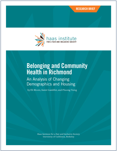 Cover of Belonging and Community Health in Richmond report
