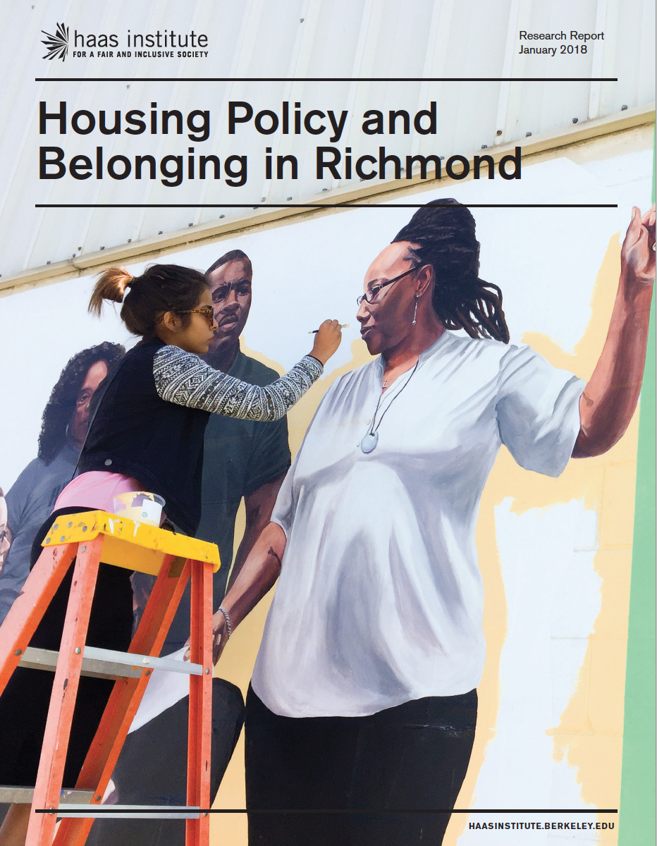 Cover of the Housing Policy and Belonging in Richmond report