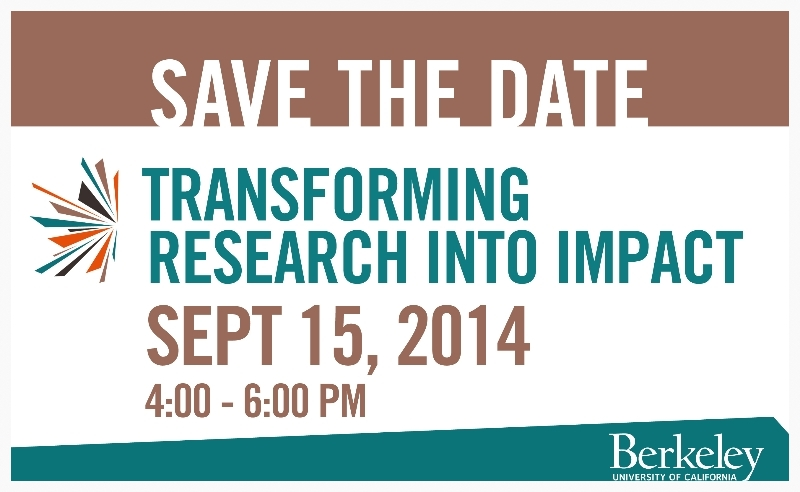Save the Date. Haas Institute's 'Meet the Clusters' event takes place September 15, 2014.