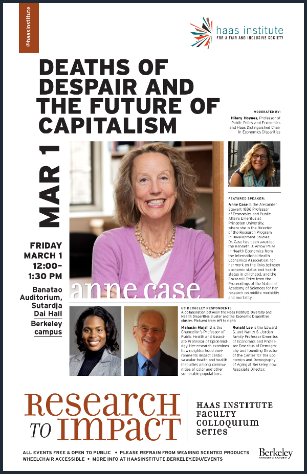 Flier for the Anne Case talk