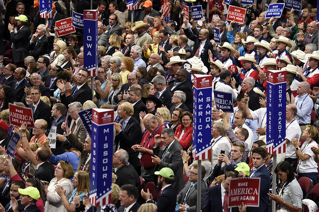 Audience at RNC in Cleveland, Courtesy of DisneyABC, via Flickr, Creative Commons  License