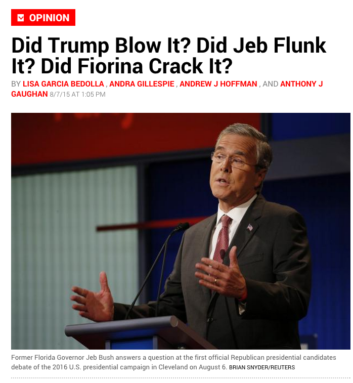 Newsweek magazine image on Republican debate - image copyright Newsweek