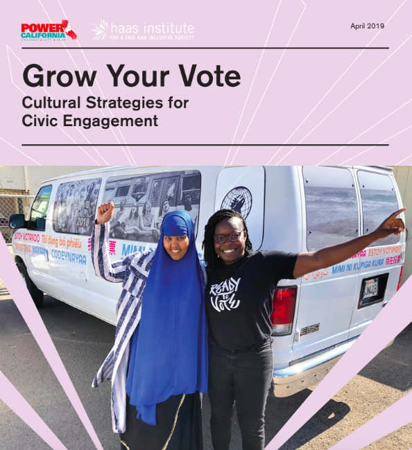Screenshot cover of Grow Your Vote report