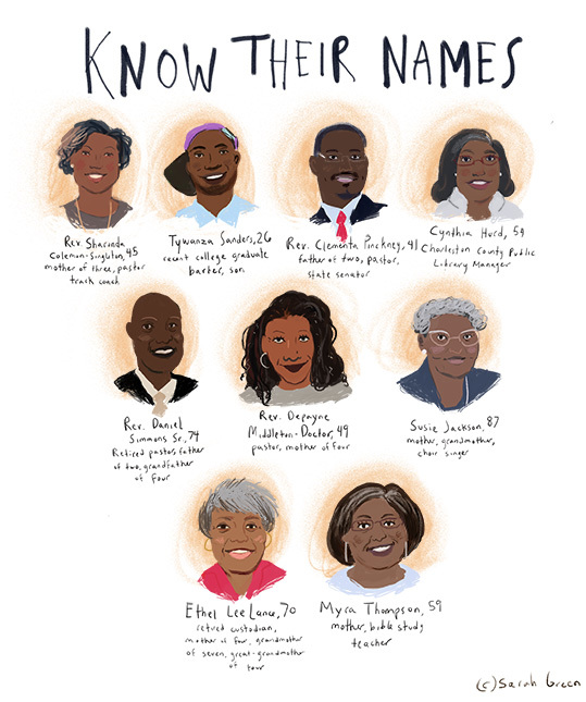 Know Their Names Illustration by Sarah Green. Used with permission.