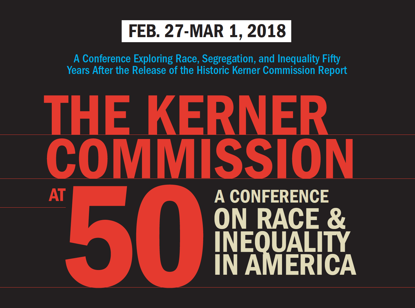 graphic for Kerner Commission at 50 conference