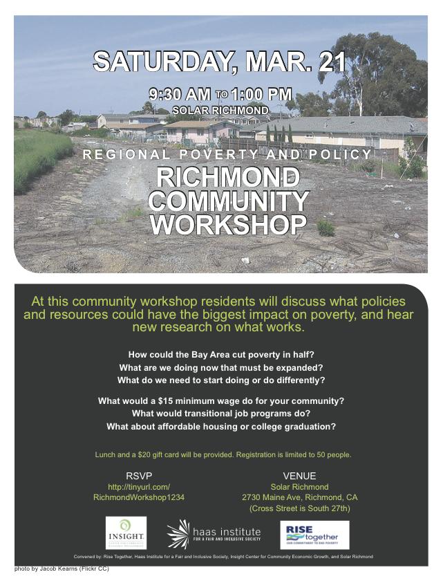Richmond Community Workshop Flyer