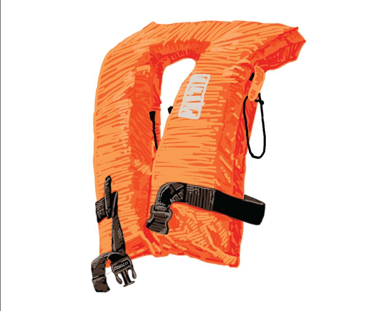Illustration of a life vest