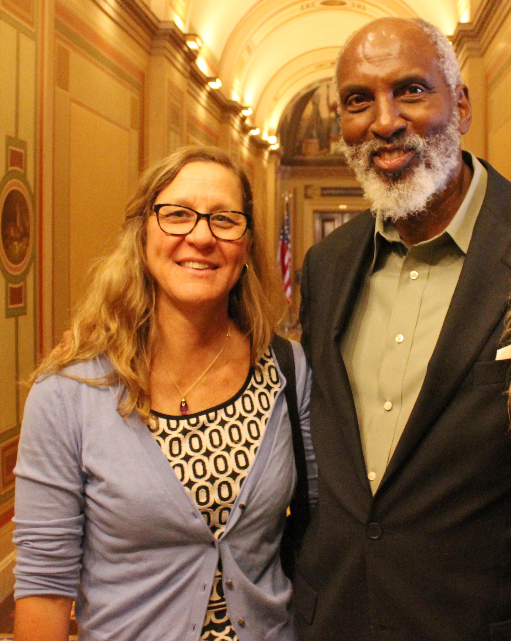 Hilary Hoynes and john powell at Capitol Hill