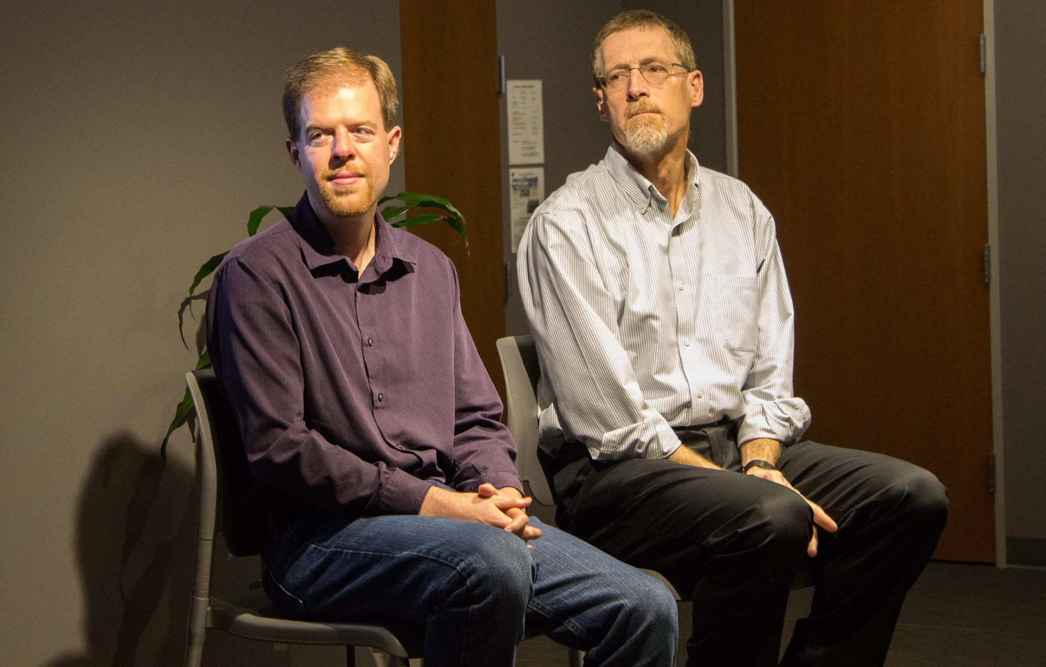 Left to right: Jim Pugh and Chris Benner at Thinking Ahead event on September 13